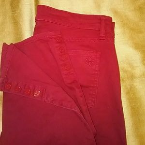 Tory Burch Red Ankle Jeans